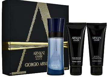 Giorgio Armani Code Pour Homme Colonia Gift Set 75 ml Eau De Toilette Spray  + 75 0c9010df2361