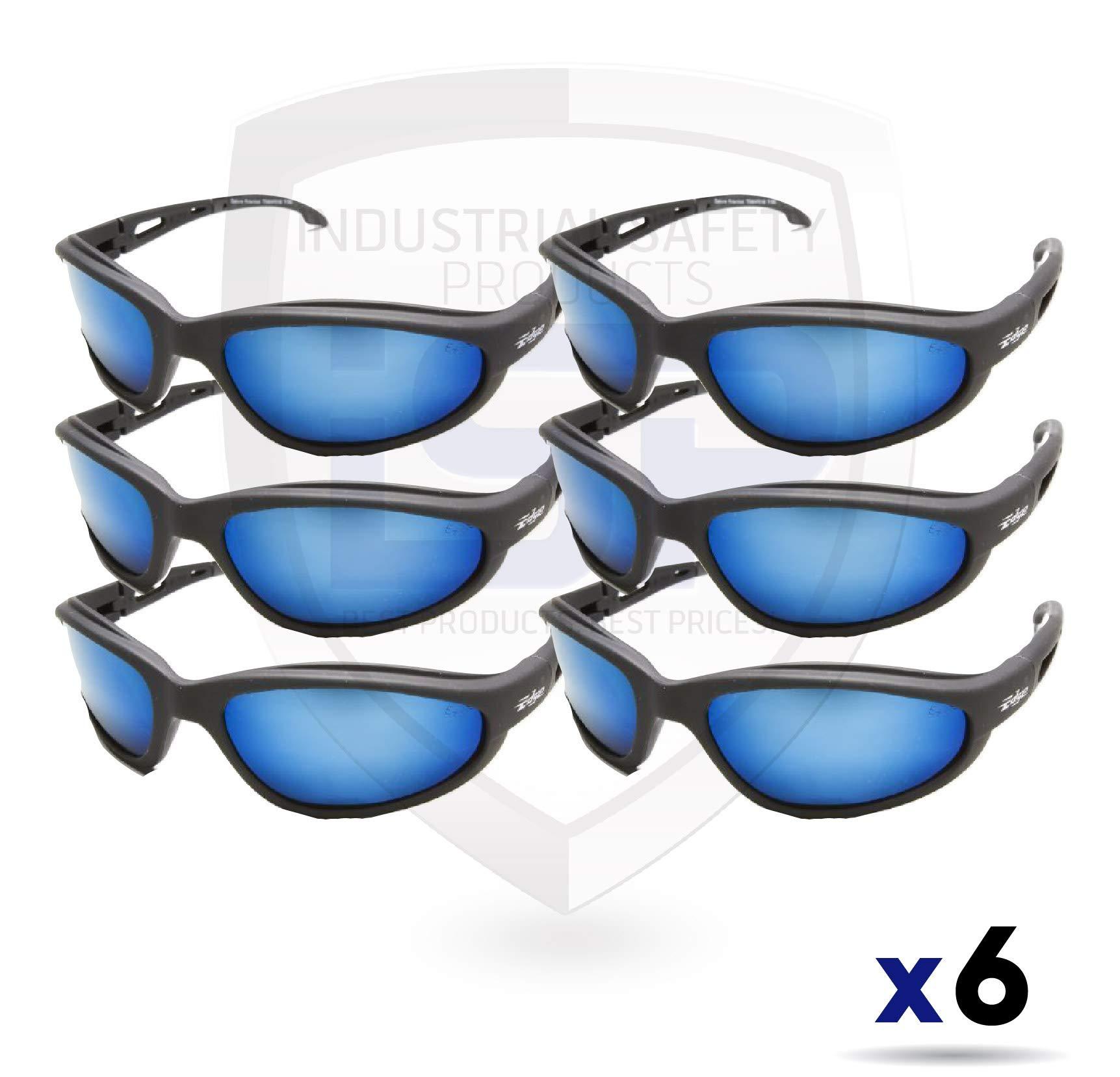 Edge Eyewear TSMAP218 Dakura Polarized Aqua Precision Blue Mirror (6 Pack)