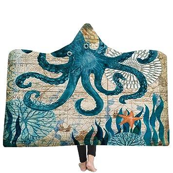 YJZ Manta para niños Huggable con Capucha para Adultos - Animal Submarino: la compañera de