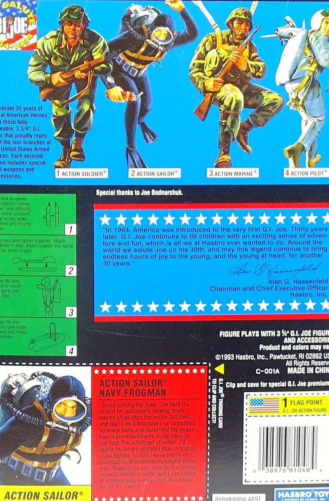 G.I. Joe Action Navy Sailor US Navy Action Frogman in Box - Commemorative Collection Actionfigure 1994 von Hasbro c7ab42