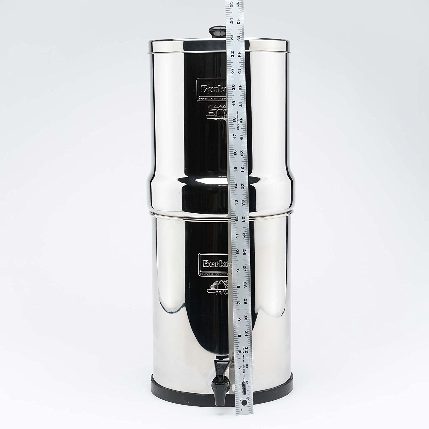 Berkey BT2X2-BB Travel Stainless Steel Water Filtration System with 2 Black Filter Elements Alfi