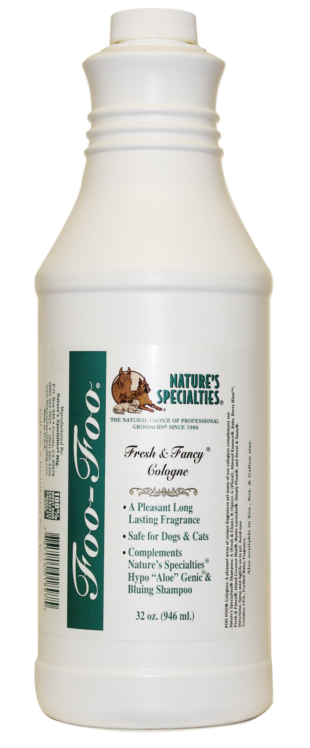 Nature's Specialties Foo Foo Fresh and Fancy Cologne for Pets, 32-Ounce