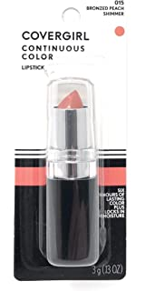 CoverGirl Continuous Color Lipstick, Bronzed Peach 015, 0.13-Ounce Bottles (Pack of