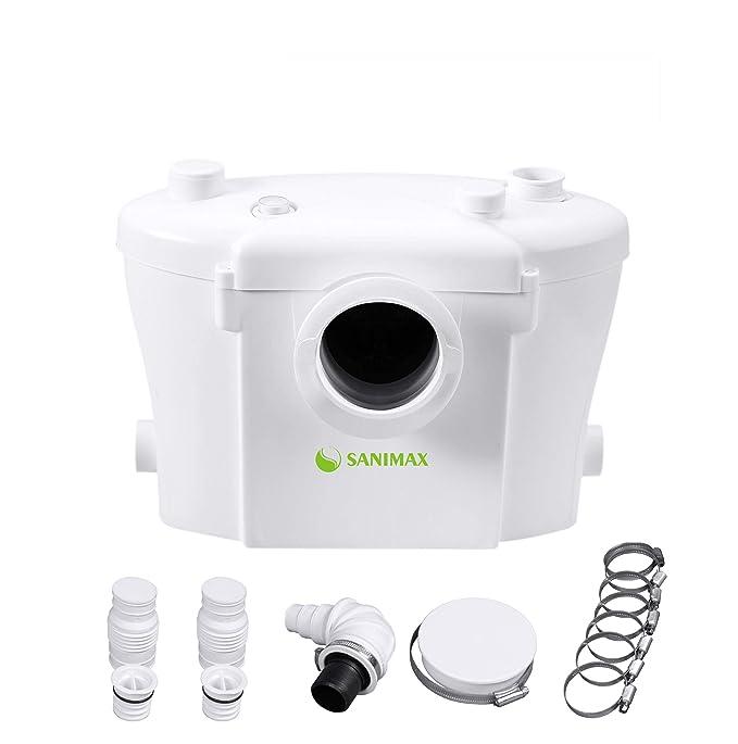 SANIMAX Hebeanlage Haushaltspumpe Fäkalien Abwasserpumpe für WC 400w