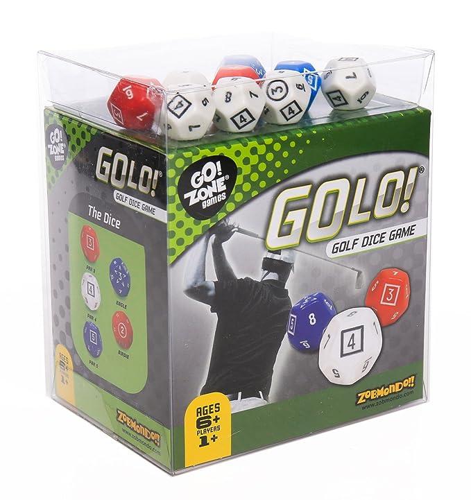 Amazon.com  Zobmondo!! GOLO Golf Dice Game  ed895f01112c