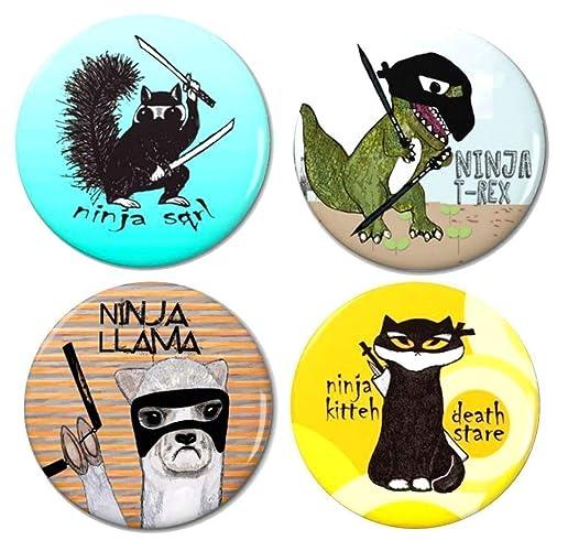 Amazon.com: Ninja Animals Magnet Set 1 by Pithitude- Pack of ...