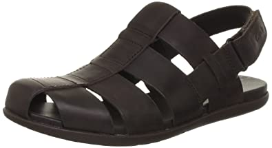 848619800bf Clarks Men s Valor Sky Dark Brown Leather Sandals and Floaters - 6.5 ...
