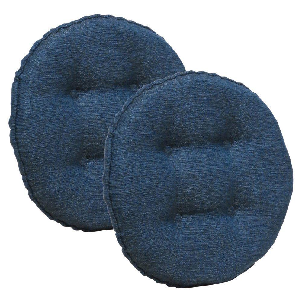 Klear Vu Omega Barstool Cushion, Indigo