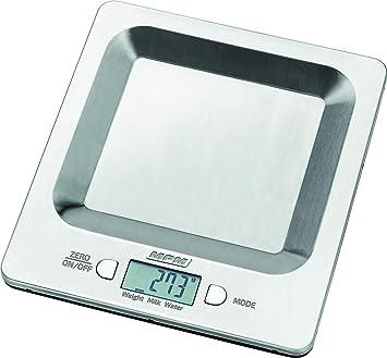 MPM Balanza De Cocina Electrónica de precisión Con Pantalla LCD Hasta 8.0Kg, MWK-04 Gris.: Amazon.es: Hogar