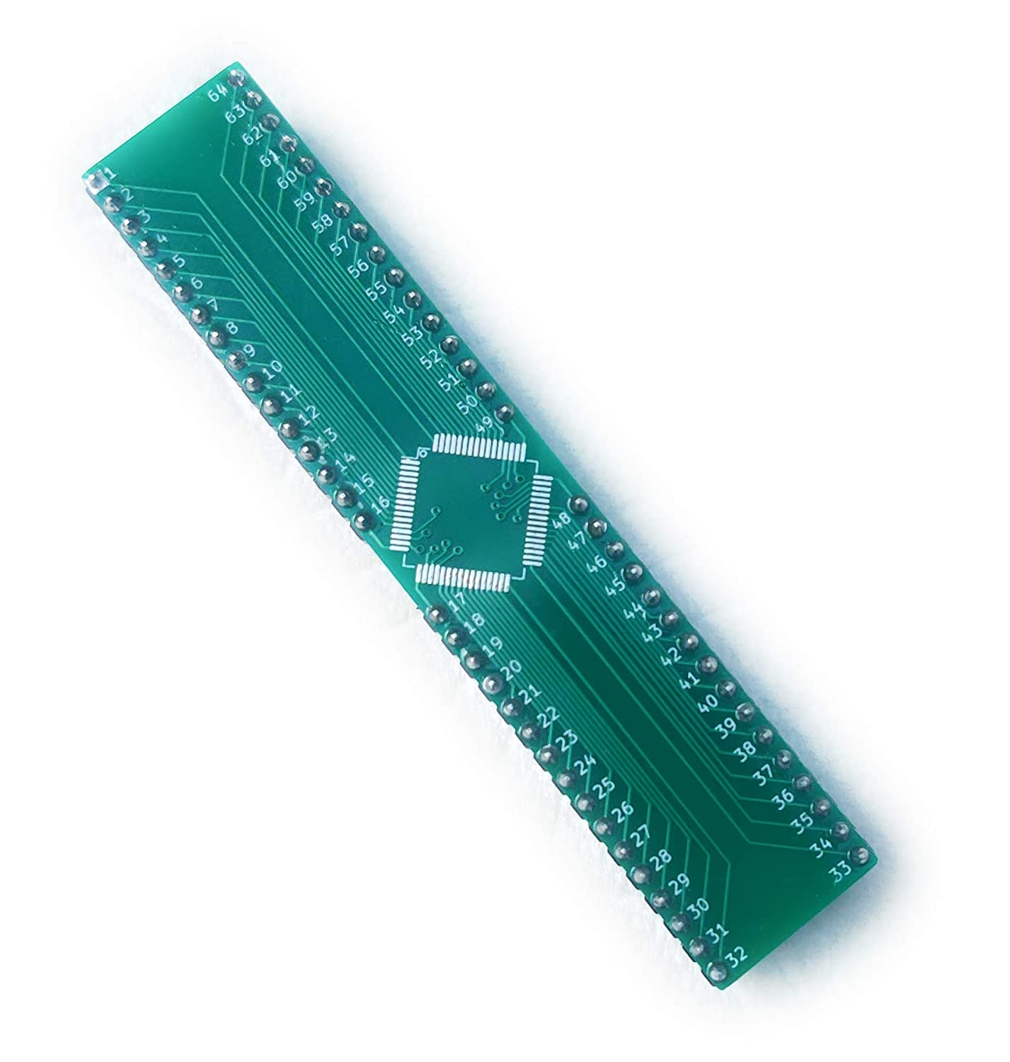 2 Pack QFP-64 LQFP-64 TQFP-64 to Dip-64 for Breadboard Prototyping