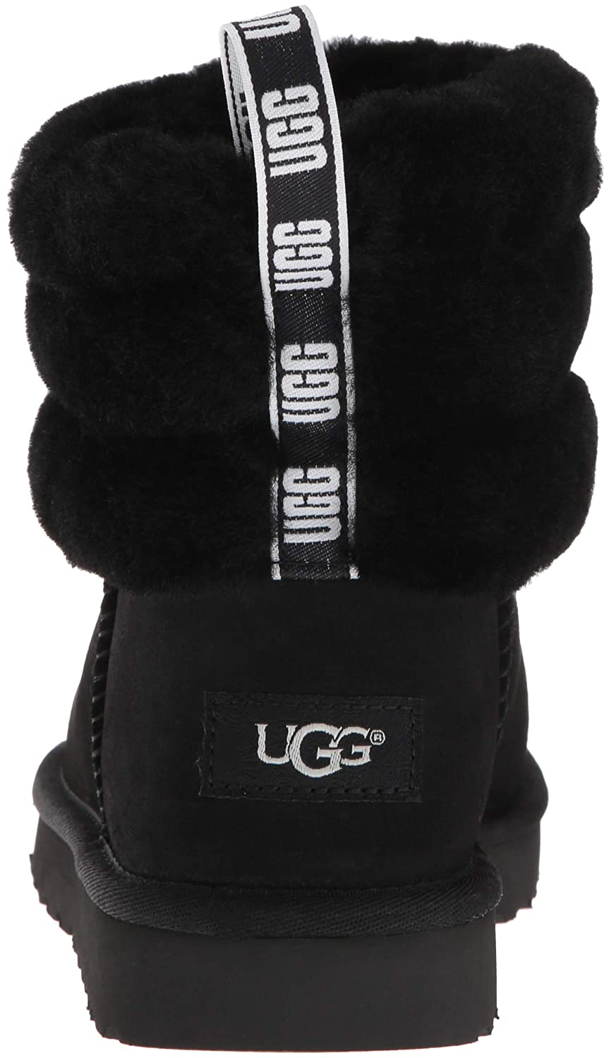 afc9792bb4c7 UGG Fluff Mini Quilted Black Logo Boot  Amazon.co.uk  Shoes   Bags