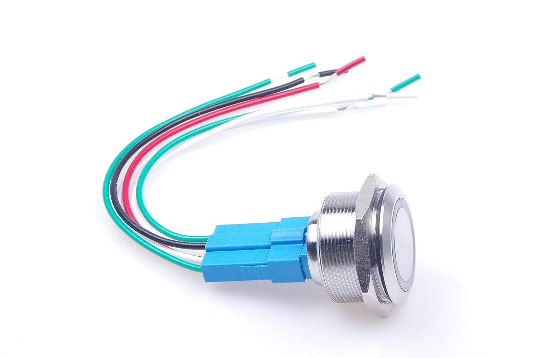 Knacro 30mm Metal Button Switch Momentary Push 3a Dc 6v 8v Self 2nc Wiring Diagram