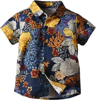 Camisa de Manga Corta de Summer Boy Camisa de Flores Camisa de Playa para niños Vacaciones de Verano Ropa de niños Camisa Casual: Amazon.es: Ropa y accesorios