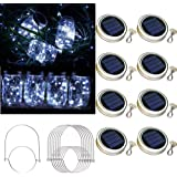 Raincol Solar Mason Jar Lid Lights 8 Pack 30 Led Solar String Light Waterproof Fairy Hanging Lighting Solar Lids Jar Lights w