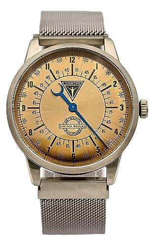 Junkers 6362-3 - Reloj de Pulsera automático para Hombre, diseño de Mono milanés, Color Plateado: Amazon.es: Relojes