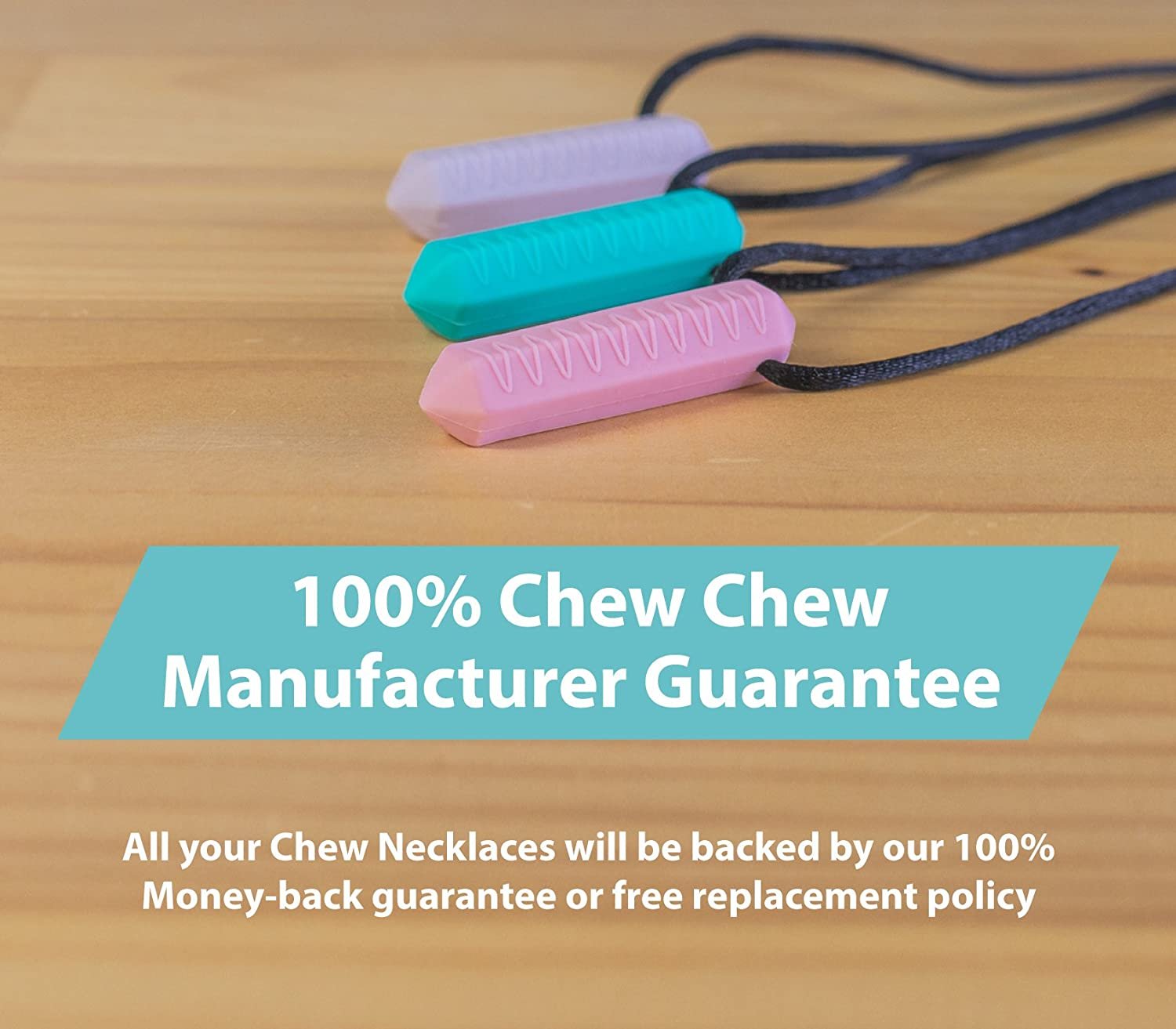 Biting and Teething Kids Chewlery Necklaces Perfectly Textured Silicone Chewy Toy Best for Autism Tilcare Chew Chew Crayon Sensory Teether Necklace Pack Chewing Pendant for Boys /& Girls