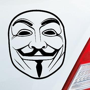 Auto Adhesivo en tu deseos Color máscara Anonymous Anti DUB OEM JDM 10 x 12 cm