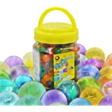 Large Water Gel Beads 10OZ (300pcs) Gaint Water Jelly Pearls Rainbow Mix for Kids Sensory Playing, Wedding Home Decoration,Plants Vase Filler Sold by Jangostor