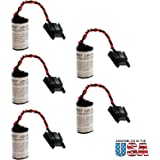 5pc Exell Battery 3V Lithium PLC Computer Backup Battery Fits and Replaces Allen Bradley 1747BA, Allen Bradley 1769-BA, Allen Bradley 1769-BA2, Allen Bradley 41761, Allen Bradley 41762