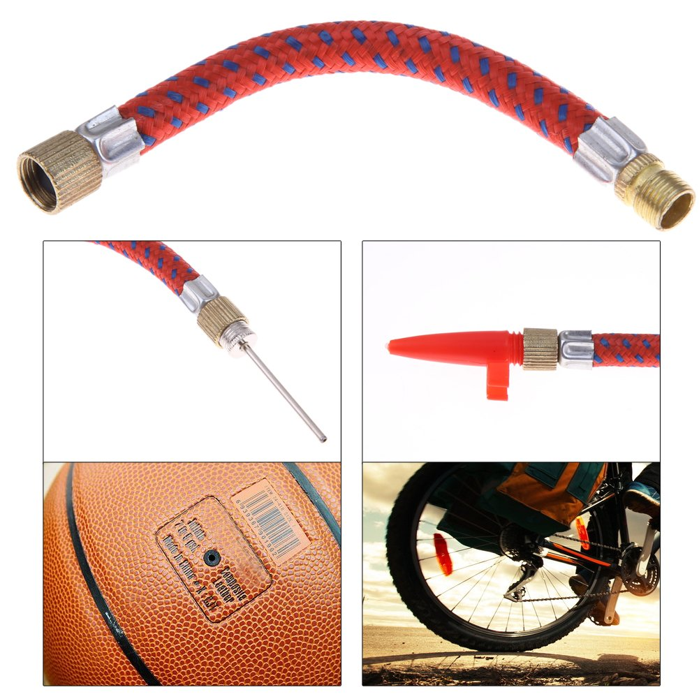 Broadroot 7 pcs Bomba de aguja v/álvula conector adaptador Set Kit para f/útbol para bicicleta Ciclismo 7pcs Bomba de aguja v/álvula conector adaptador Set Kit para f/útbol para bicicleta Ciclismo