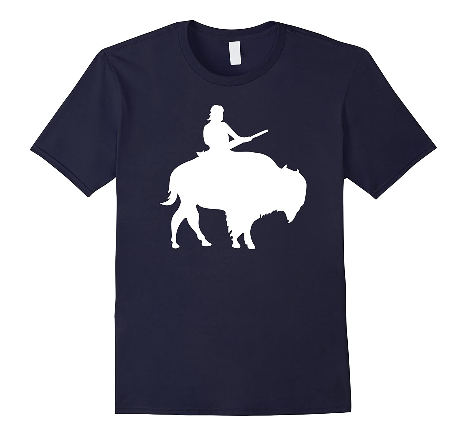 Guy on a Buffalo T-shirt for Women Men Kids-RT