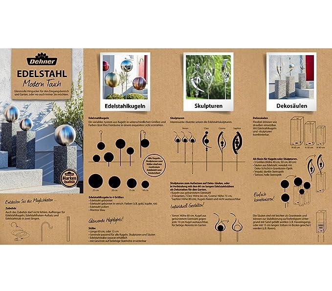 Edelstahlstele E-60cm Gartenstecker aus Edelstahl Gartendeko Pflanzenstab Pflanzenstecker