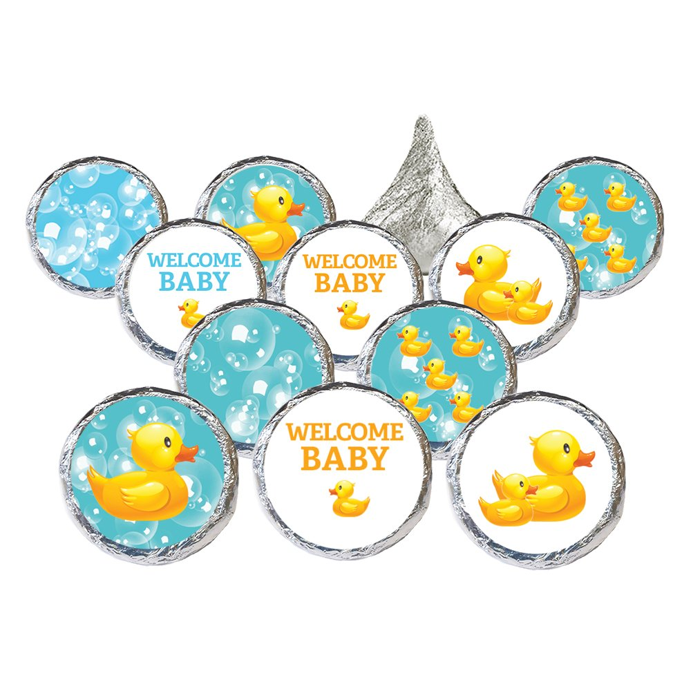 Amazon.com: DISTINCTIVS Rubber Ducky Bubble Bath Baby Shower Favor ...