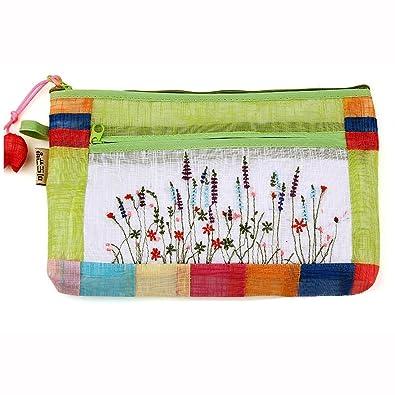 Amazon.com: Kem Corea estilo tradicional de ramio bolsa de ...