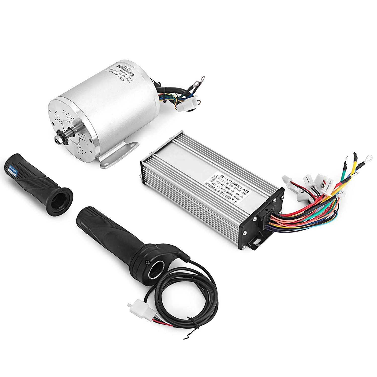 Mophorn 1800w Electric Brushless Dc Motor Kit 48v High 18 Volt Battery Wiring Diagram Speed With 32a Controller And Throttle Grip For Go Karts E Bike