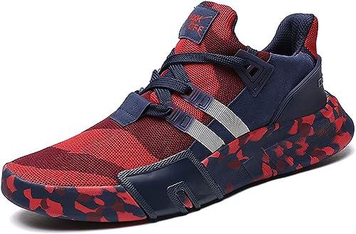 GJRRX Zapatillas Running para Hombre Aire Libre y Deporte Transpirables Casual Zapatos Gimnasio Correr ...