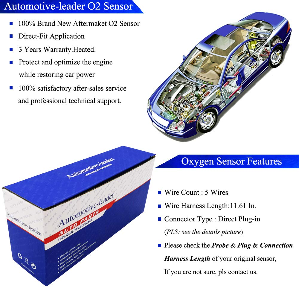Automotive-leader 234-5053 5-Wire Upstream Air Fuel Ratio O2 Sensor for 2007-2010 Honda Odyssey EXL Touring LX EXL NHL DX EX EX-L 3.5L V6 2007-2009 Acura MDX 3.7L V6 36531-RYE-A01