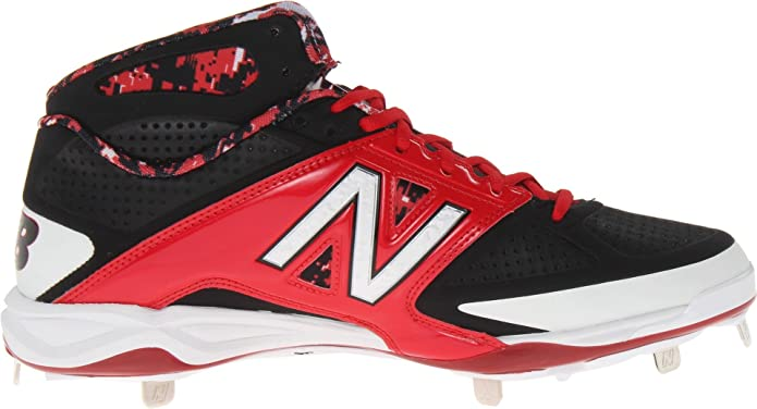New Balance Men's M4040 Metal Mid Baseball Shoe,Black/Red,9.5 2E US:  Amazon.in: Shoes & Handbags