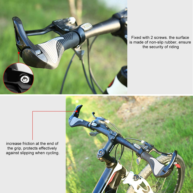 Wafly Puños Bicicleta Ergonomicos con Máscara, 2PCS Puños para Bicicleta de Montaña Antideslizante Aluminio Caucho Bike Agarre para Bicicleta Moto Montaña MTB BMX Plegable Bicicleta (22mm)-Negro: Amazon.es: Deportes y aire libre