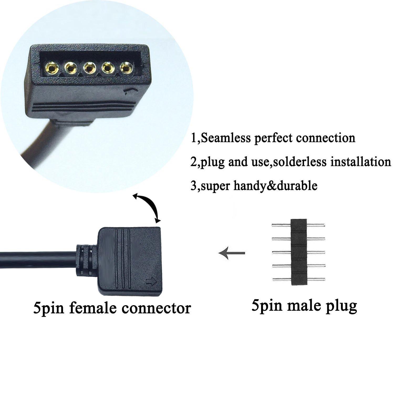 Pin Nadel LED Strip RGB Y Kabel Verbindungskabel Verlängerungskabel Verteiler