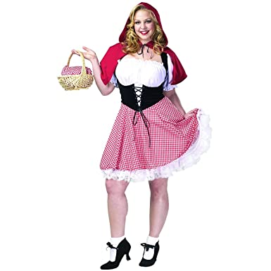 red hot riding hood adult plus size costume size 26 28 xxx large - Size 26 Halloween Costumes