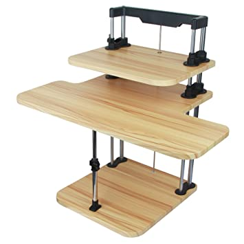 Sit / Stand Laptop Computer Desk Height Adjustable - Converts Any