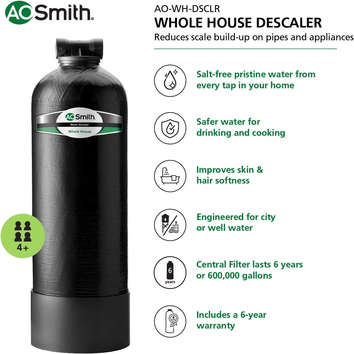 AO Smith Salt-Free Water Conditioner Descaler Reviews