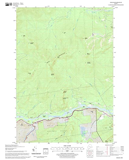 Amazon.com: United States Forest Service Gilead Quadrangle ...
