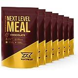 Runtime Next Level Meal Schokolade - vollwertiger Mahlzeitersatz für langanhaltende Sättigung, Energie, Konzentration und Leistungsfähigkeit, mit Vitaminen und Nährstoffen, 7 x 150g