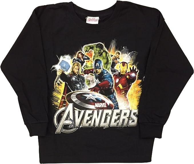 Marvels Avengers - Camiseta de manga corta - para niño Gris gris 7-8 Años: Amazon.es: Ropa y accesorios
