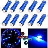 CCIYU 10 x T5 Ultra Blue 58 70 73 74 Dashboard Gauge 2SMD LED Wedge Lamp Bulb Light