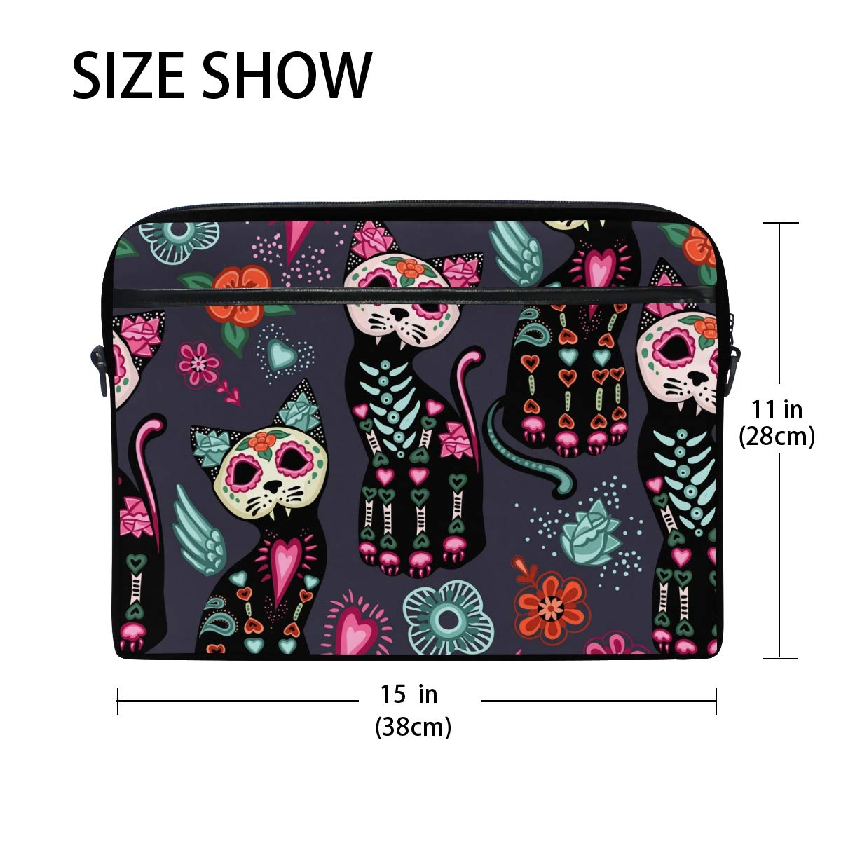 c938374709c5 Amazon.com: WXLIFE Mexican Sugar Skull Cat 13 13.3 14 Inch Laptop ...