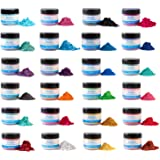 Rolio Mica Powder - 24 Colors x 10g/0.35oz - Epoxy Resin Color Pigment Powder for Slime, Clear Nail Polish, Makeup…