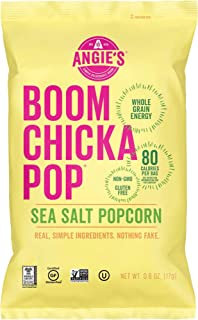 product image for Angie's BOOMCHICKAPOP Gluten Free Sea Salt Popcorn, 0.6 Ounce Vegan Snack Pack Bags (Pack of 24)