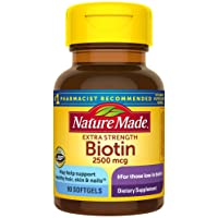 Nature Made Biotin 2500 mcg Softgels 90 Ct, Support Healthy Hair, Skin, Nails† (...