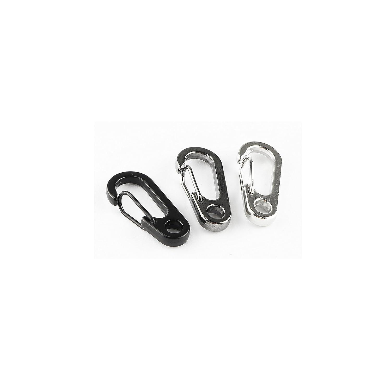 Nero Temlum minuscoli moschettone in Alluminio moschettone Clip Mini moschettone a Molla Snap per Campeggio Escursionismo Escursionismo Portachiavi allaperto 10 pz