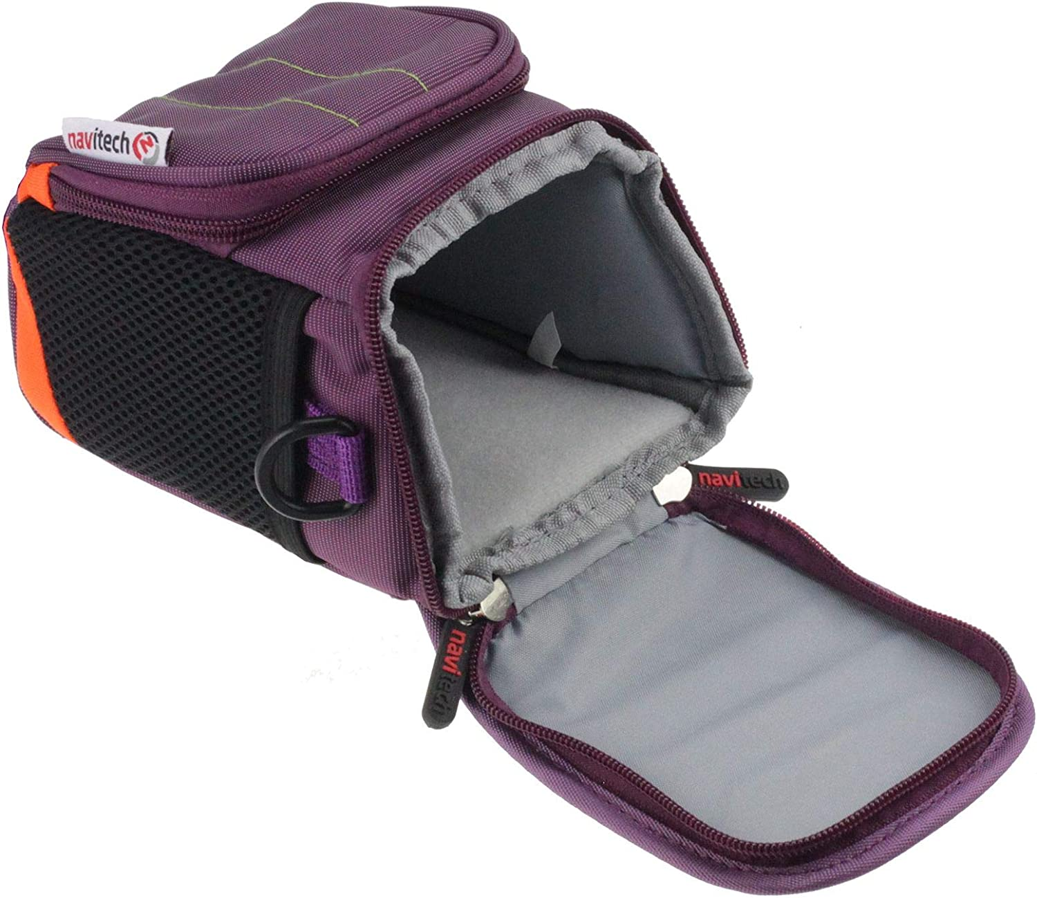with Belt and Shoulder Strap Navitech Purple Protective Portable Handheld Binocular Case and Travel Bag Compatible with The Kowa Genesis 33 Prominar 8x33