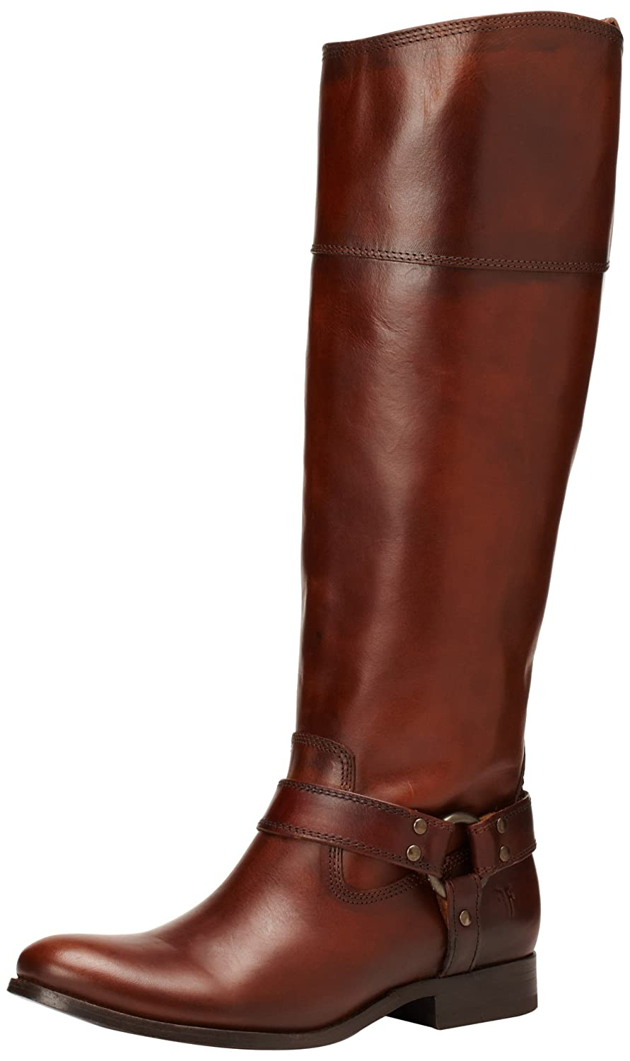 FRYE Women's Melissa Harness Inside-Zip Boot B00AX4LWTQ 7 B(M) US|Redwood Smooth Vintage Leather Wide Calf-76927