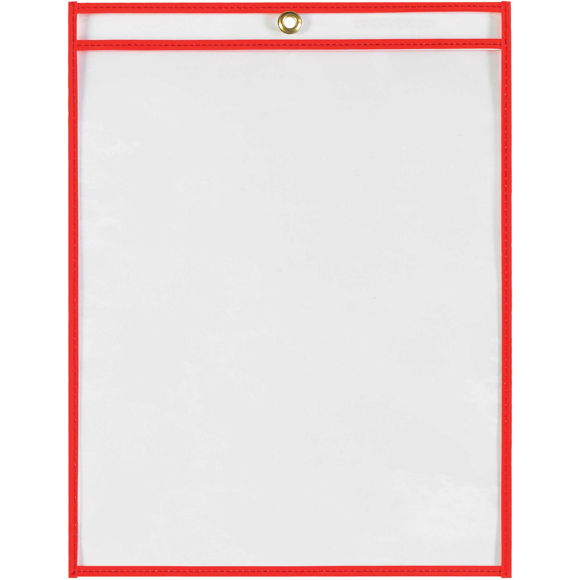 Boxes Fast Stitched Job Ticket Holders, 9'' x 12'', Neon Red, (Pack of 15) by Boxes Fast