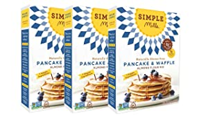 Simple Mills Almond Flour Mix, Pancake & Waffle, 10.7 oz, 3 count